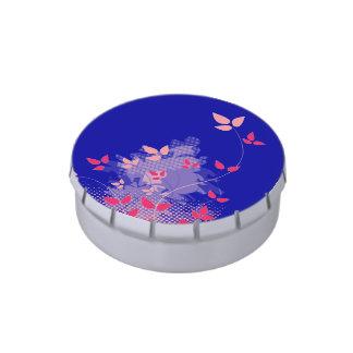 Fucsia y boda de los azules marinos latas de caramelos