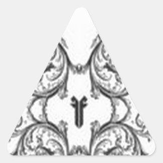 Fuctastic floral design triangle sticker
