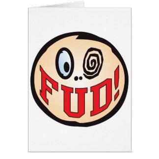 FUD Text Head Greeting Cards