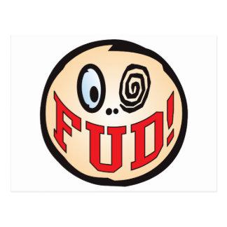 FUD Text Head Postcard