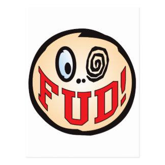 FUD Text Head Post Cards