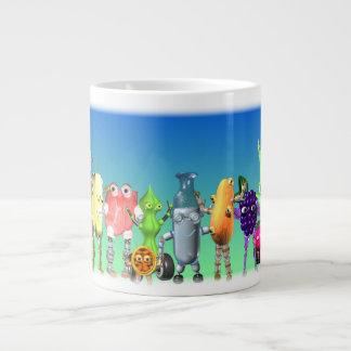 Fudebots by valxart.com giant coffee mug
