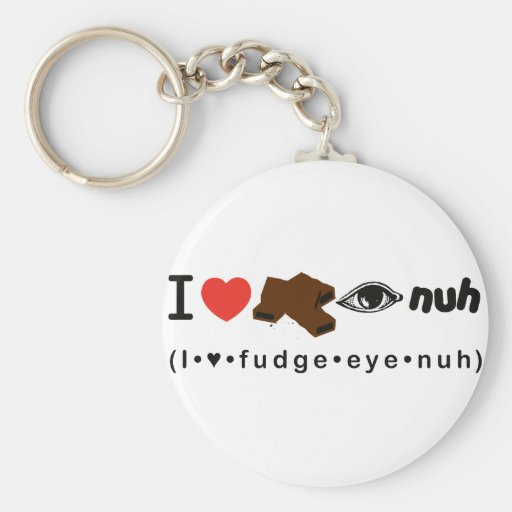 Fudge Eye Nuh Basic Round Button Keychain