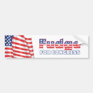 Fudge for Congress Patriotic American Flag Car Bumper Sticker