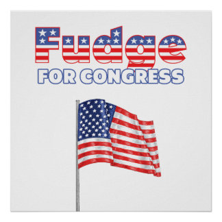 Fudge for Congress Patriotic American Flag Poster