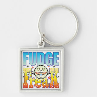 Fudge Freaky Freak Silver-Colored Square Keychain