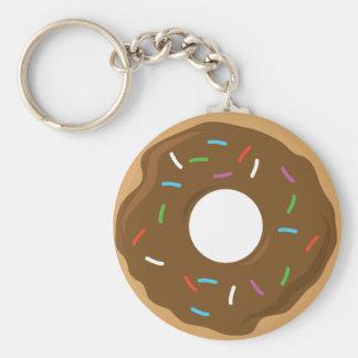 Fudge Glazed Donut Keychain