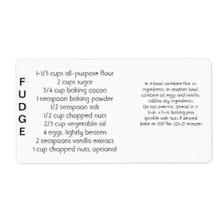 Fudge Labels