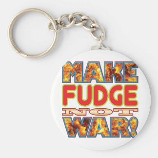 Fudge Make X Basic Round Button Keychain