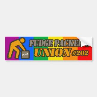 FUDGE PACKER'S UNION -.png Car Bumper Sticker