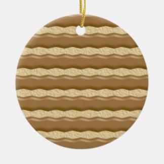 Fudge Striped Shortbread Cookies Ceramic Ornament