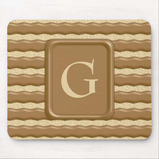 Fudge Striped Shortbread Cookies Mouse Pad