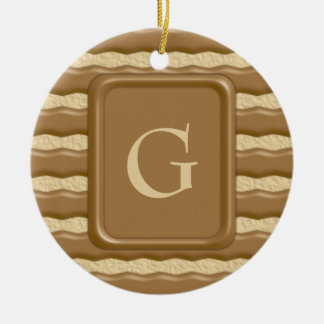 Fudge Striped Shortbread Cookies Christmas Ornament
