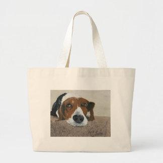 Fudge the Beagle Large Tote Bag