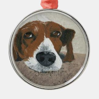 Fudge the Beagle Metal Ornament