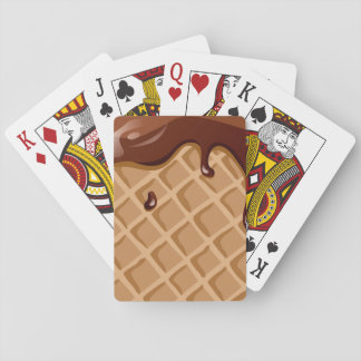Fudge Waffle Cone Playing Cards