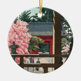 Fudô Temple in Meguro, Tokyo Hasui Kawase art Ceramic Ornament