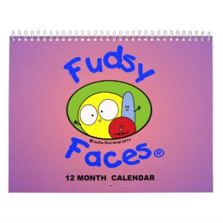 """Fudsy Faces""- 12 Month Calendar"