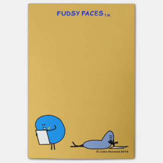 """""""Fudsy Faces""""-Adhesive Paper, Mustard Post-it® Notes"""