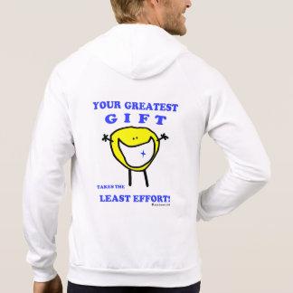 """""""Fudsy Faces""""-Fleece Zip Hoodie-Your Greatest Gift"""