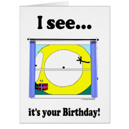 """""""Fudsy Faces""""-Large-""""I see it's your Birthday!"""" Card"""