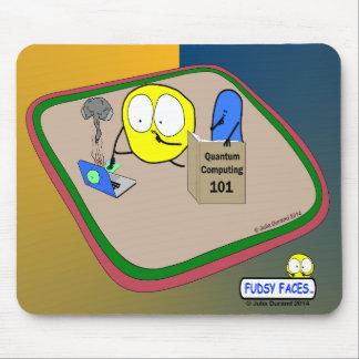 """Fudsy Faces""-Mousepad-Quantum Computing Mouse Pad"