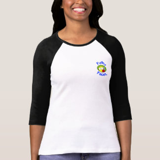 """Fudsy Faces""-Women Jersey-""Better with a Friend"" T-Shirt"