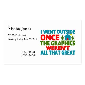 Fue fuera de gráficos no eran grande tarjetas de visita