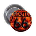 Fuego 1 de la ruta 66 pin redondo 5 cm