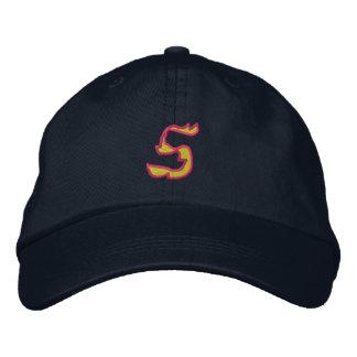 Fuego #1 número 5 gorras bordadas