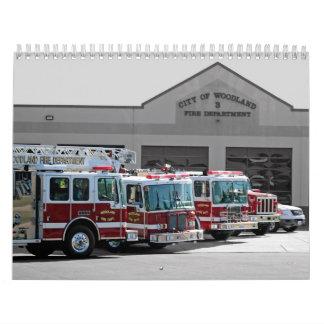 Fuego 2010 del arbolado calendarios de pared