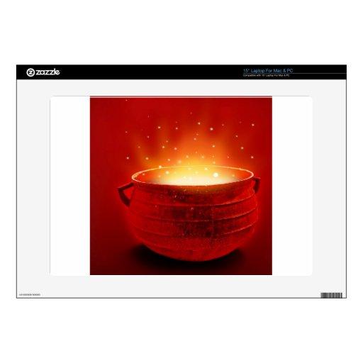 Fuego abstracto Caldren caliente 38,1cm Portátil Calcomanías