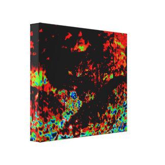Fuego abstracto en un bosque impresión en tela