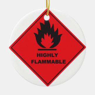 Fuego altamente inflamable de la muestra adorno redondo de cerámica