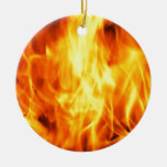 Fuego ardiente ornamento para arbol de navidad