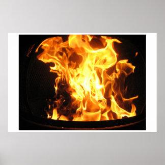 Fuego ardiente póster