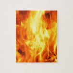 Fuego ardiente rompecabezas con fotos