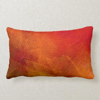Fuego - arte abstracto en naranja, amarillo, rojo cojines