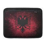 Fuego artificial; Bandera de Albania Funda Para Macbook Air