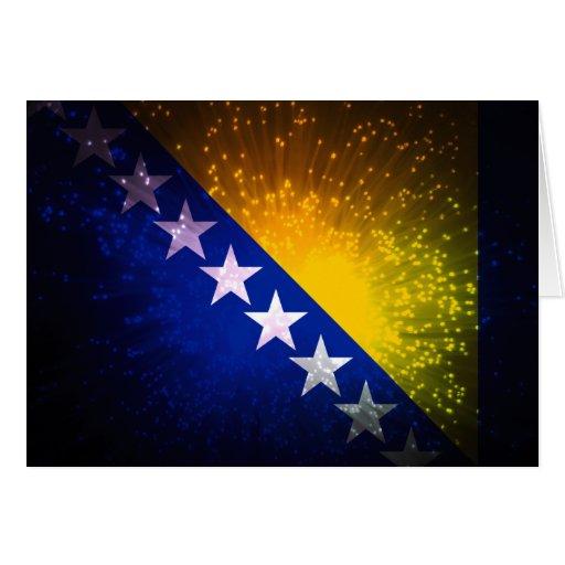 Fuego artificial; Bandera de Bosnia Tarjetón