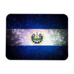 Fuego artificial; Bandera de El Salvador Imanes Flexibles