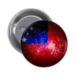 Fuego artificial; Bandera de Samoa Pins