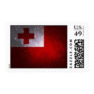 Fuego artificial; Bandera de Tonga Sellos
