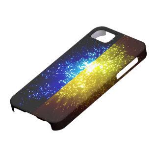 Fuego artificial; Bandera de Ucrania iPhone 5 Case-Mate Fundas