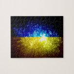 Fuego artificial; Bandera de Ucrania Rompecabeza Con Fotos