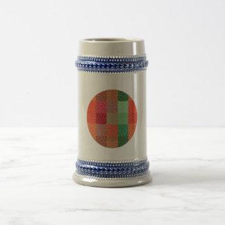 Fuego artificial colorido del cuadrado retro del v tazas de café