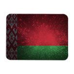 Fuego artificial de la bandera de Bielorrusia Imán