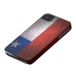 Fuego artificial de la bandera de Chile iPhone 4 Cárcasa