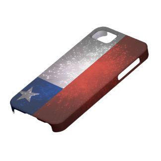 Fuego artificial de la bandera de Chile Funda Para iPhone 5 Barely There