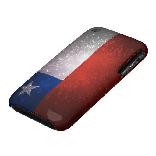 Fuego artificial de la bandera de Chile iPhone 3 Case-Mate Carcasas